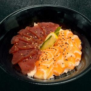 chirashi-mixte-thon-saumon-restaurant-japonais-saint-brieuc-commander-sur-place-a-emporter